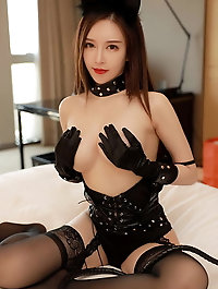 Asian M-I-L-F is covered with jizz